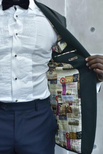 Personalized interior lining custom dinner jacket