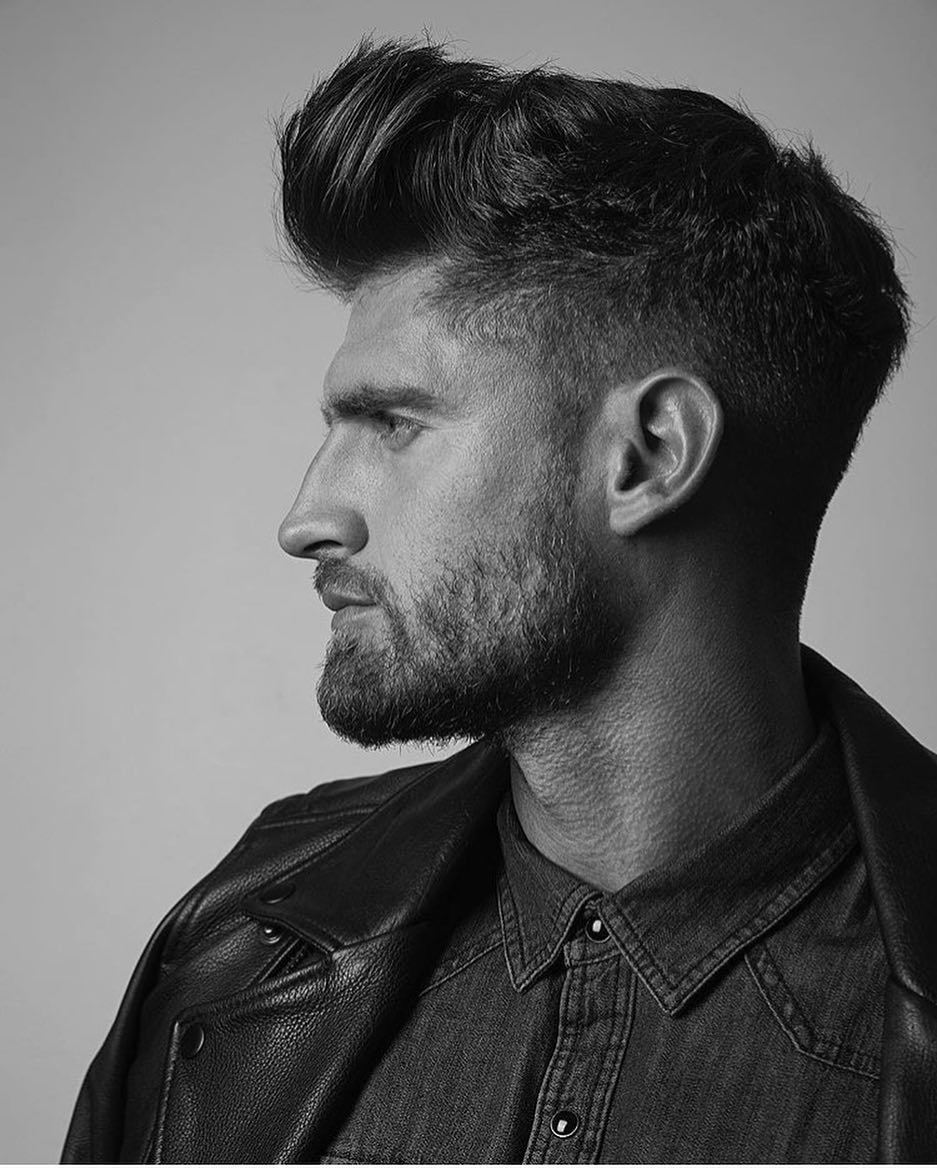 mens medium length hairstyle THE MODERN POMPADOUR