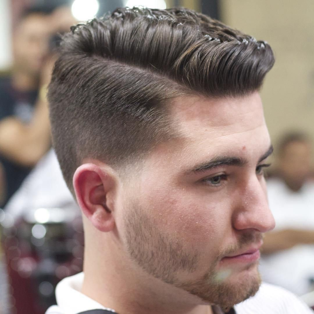 mens medium length hairstyle comb over