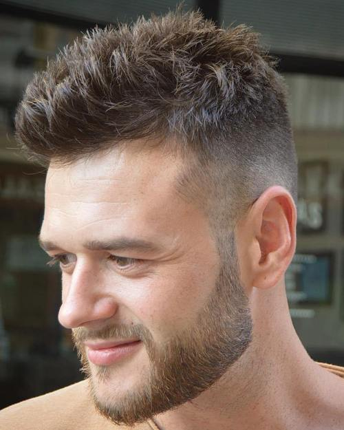 best hairstyles for men with thin hair SOFT AND SPIKY