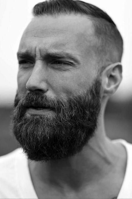 best hairstyles for men with thin hair full beard