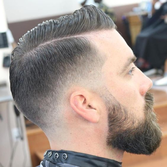 best hairstyles for men with thin hair COMB OVER WITH A FADE