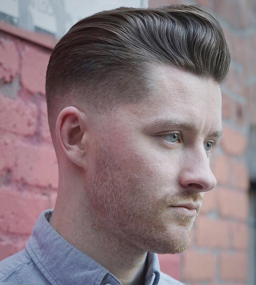 best hairstyles for men with thin hair LOWER POMPADOUR