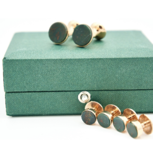 Codis Maya blood stone stud set