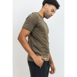 Jaxson Maximus Athleisure Cool Touch T-Shirt in Olive