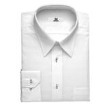 white button down shirt for a black uniform