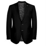 Black Suit With Grey Lining