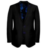 Black Suit With Blue Rose Uniform