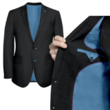 Charcoal Grey With blue solid Lining