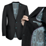 Charcoal Grey With teal Lining